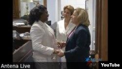 Berta Soler se encuentra con la congresista Ileana Ros-Lehtinen en el despacho de esta en Washington
