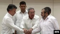 El gobierno de Juan Manuel Santos y las FARC implementan un acuerdo de paz firmado en noviembre pasado, tras cuatro años de negociaciones en Cuba.