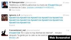 Alguien ha puesto en circulación el hash tag #YoaniYcia, en relación con las habituales acusaciones contra la bloguera de ser agente de la CIA.
