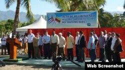 Recibimiento oficial llegada del cable a Cuba desde Venezuela.