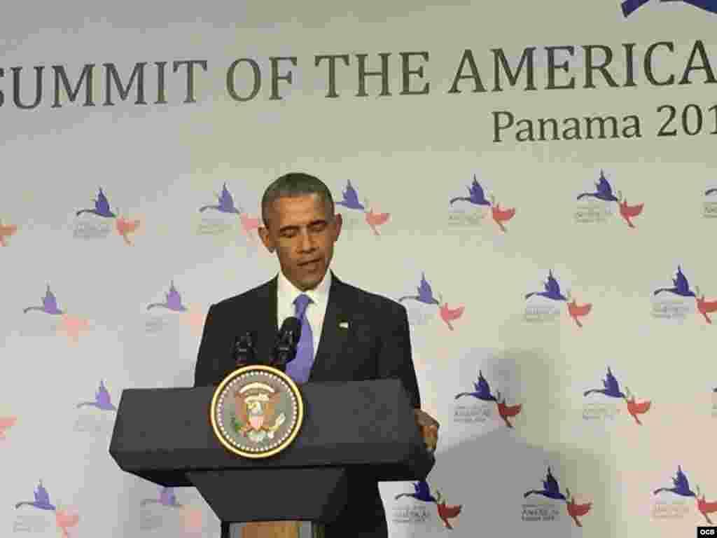 Conferencia de prensa de Barack Obama.