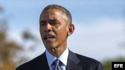El presidente Barack Obama habla ante la prensa en la Casa Blanca en Washington DC (octubre, 28). Foto: EFE.