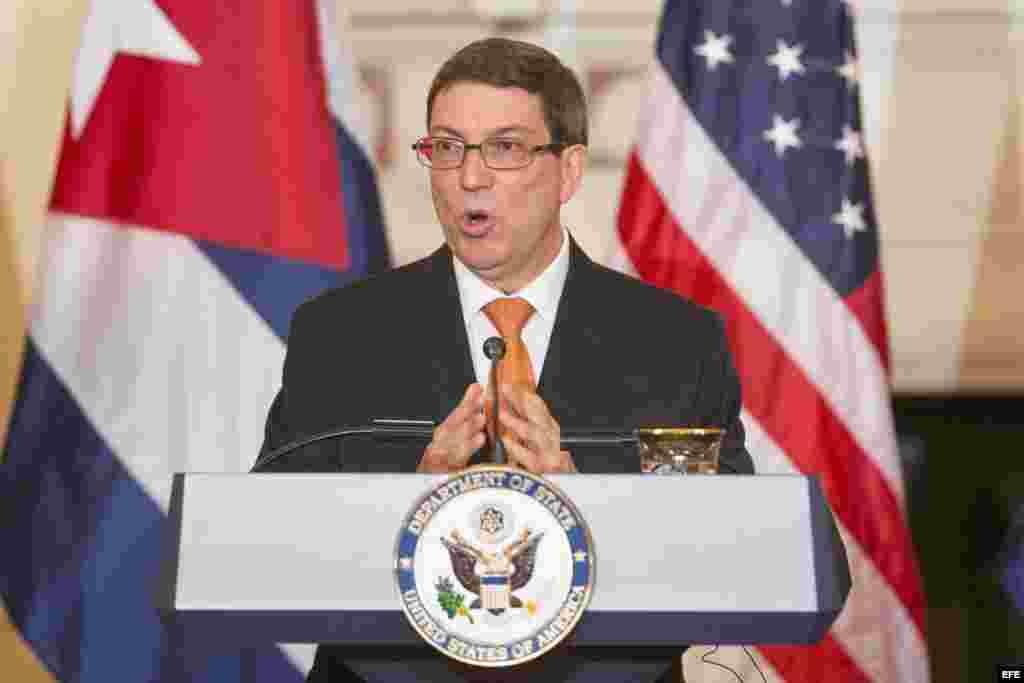 El ministro cubano de Relaciones Exteriores, Bruno Rodríguez.