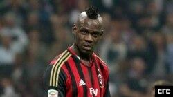El delantero estrella del AC Milan, Mario Balotelli.