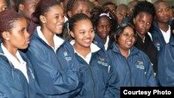 Estudiantes sudafricanos de Medicina.