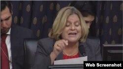 La congresista Ileana Ros-Lehtinen habla ante el Congreso sobre Venezuela.