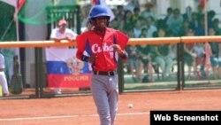 Luis Maikol Estacholi Piedra, pelotero cubano.