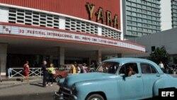 Vista general del cine Yara, en La Habana.