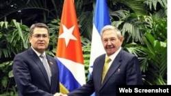 Presidente de Honduras realiza visita oficial a Cuba.