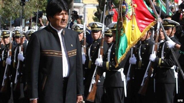 """El pasado 14 de febrero el presidente Evo Morales declaró """"héroes"""" a los tres soldados bolivianos presos en Chile."""
