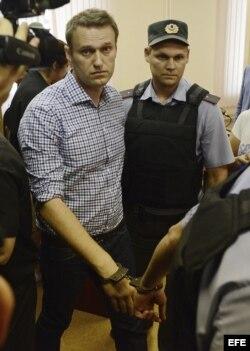 El dirigente opositor ruso Alexei Navalny es declarado culpable de robo y fraude por el tribunal de Kirov (Rusia).