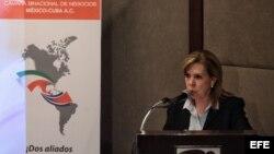 La presidenta de la Cámara Binacional de Negocios México-Cuba, Beatriz Barreto.