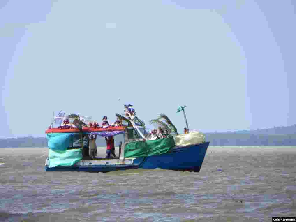 Reporta Cuba Recreación Carnaval Acuático Morón Foto Nilo Alejandro