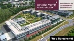 Vista aérea parcial Universidad París-Saclay. Francia.