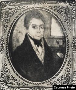 José María Heredia, primer retrato suyo que se conserva (1823).
