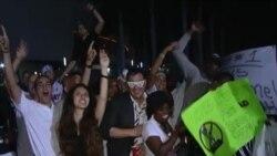 Celebran fanáticos victoria del Miami Heat