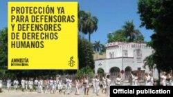 Amnistía Internacional anuncia campaña en favor de activistas