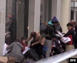 Explosión en la estación de metro de Bruselas.