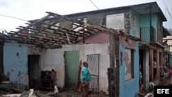 Parte de los destrozos y estragos causados por el paso del huracán Matthew en Baracoa, provincia de Guantánamo (Cuba).