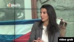 Rocío Monasterio. (Captura de imagen video HispanTV)