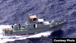 Patrullera Griffin de las fuerzas guardafronteras de Cuba