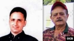 Ernesto Borges Pérez, preso político que cumple condena de 30 años, y su padre Raúl Borges.
