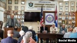 Exilio cubano recordó los presos políticos cubanos durante jornada de tributo a José Martí
