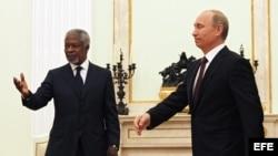 Kofi Annan en Moscú