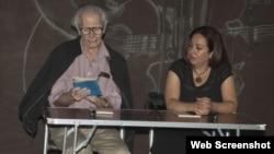 El poeta Jorge Valls y Janissete Rivero.