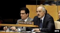 El embajador de Siria ante la Organización de las Naciones Unidas (ONU), Bashar Ja'afari (d)
