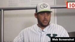 El lanzador cubano Yoanner Negrín.