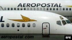 Aviones de una compañía venezolana en las instalaciones del Aeropuerto Simón Bolívar.