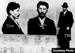Ficha de Stalin por la policía rusa.