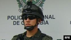 Foto de archivo de un policía colombiano.