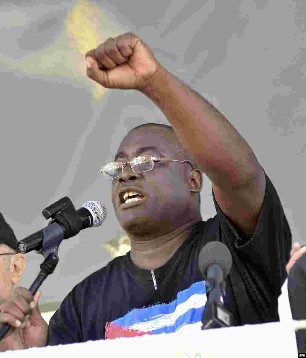 """Jorge Luis García Pérez, """"Antúnez"""", es secretario del Frente Nacional de Resistencia Cívica y Desobediencia Civil Orlando Zapata Tamayo, con sede en Placetas, Las Villas."""