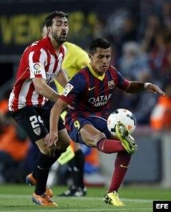 El delantero chileno del FC Barcelona, Alexis Sánchez