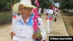 Reporta Cuba. Damas de Blanco piden el cese de la violencia en Cuba.