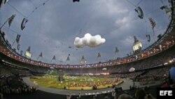 Ceremonia inaugural de los Juegos Olímpicos 2012 en el Estadio Olímpico de Londres.