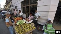 Mercado en Cuba.
