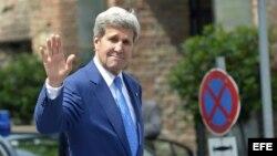 El Secretario de Estado de EE. UU., John Kerry