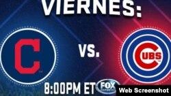 Indios de Cleveland vs Chicago Cubs en el estadio Wrigley Field. El juego será transmitido por Radio Martí.