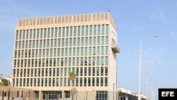 Sección de Intereses de EEUU en La Habana. Foto de archivo.