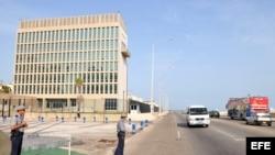 Sección de Intereses de Estados Unidos (SINA), en La Habana. Archivo.