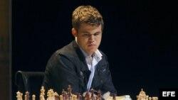 Foto de archivo del ajedrecista Noruego Magnus Carlsen, actual campeón mundial de ajedrez.