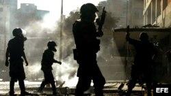 Guardias venezolanos patrullan las calles. Archivo