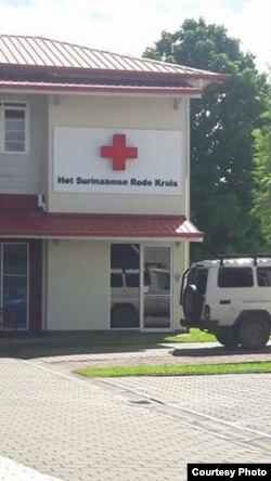 Oficina de la Cruz Roja en Paramaribo, Surinam.