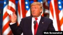 Donald Trump se dirige a los delegados a la Convención Republicana.
