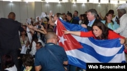 Delegación oficialista cubana interrumpe a gritos foro de la sociedad civil en Cumbre de Lima. (Foto: Cubanet)