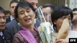 Líder opositora birmana, Aung San Suu Kyi
