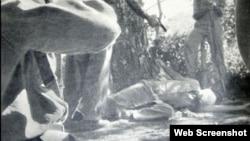 Un fusilamiento a manos del Ejército Rebelde.
